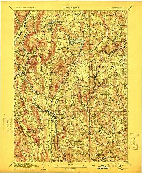 Topographic Map Ct.Amazon Com Yellowmaps New Milford Ct Topo Map 1 62500 Scale 15 X