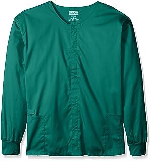 b966148cb97 Cherokee Men's Ww Flex with Certainty Unisex Big Snap Front Warm-up Jacket