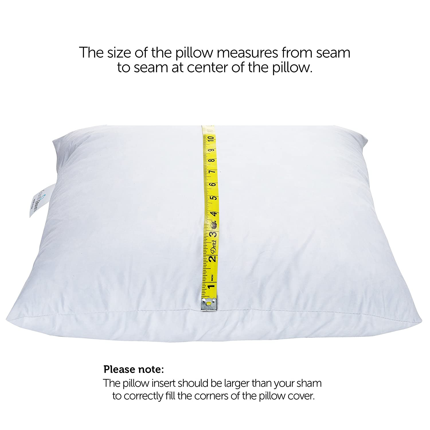 standard thread pillow down set amazon egyptian cotton count of pillows goose size dp com kitchen soft home