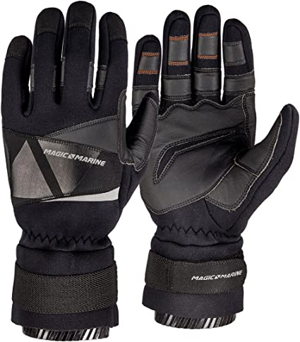 Neoprene Full Finger Gloves / Sailing and much more Reinforced Palm Watersports gloves/