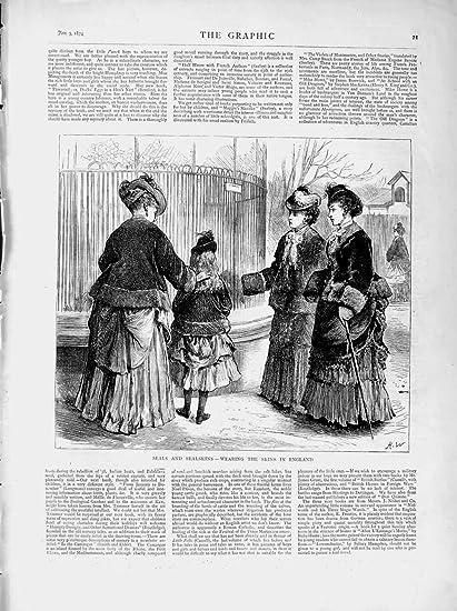 Moda de la Muchacha de 1874 de los Sellos de las Pieles De Foca Señoras de