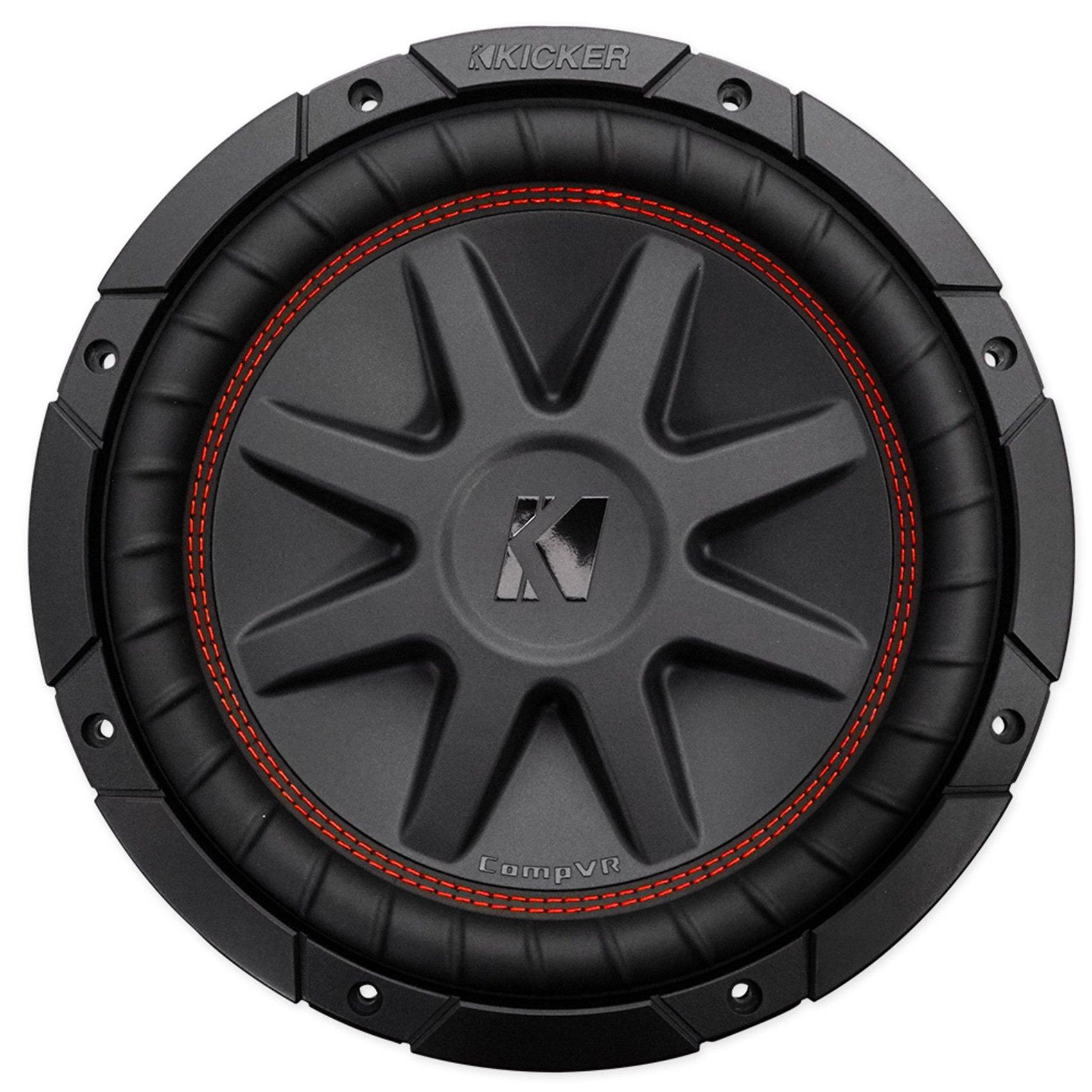 (2) Kicker 43CVR102 10'' Dual Voice Coil 2-Ohm Car Subwoofers Totaling 1600 Watt Peak/800 Watt RMS