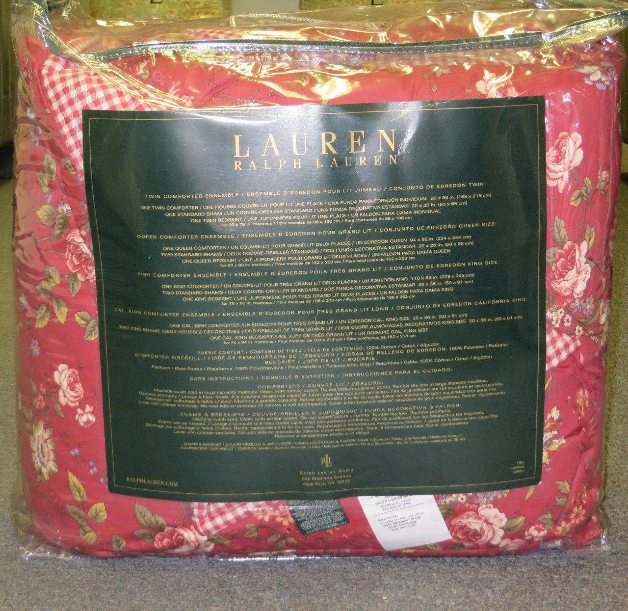 Amazon.com: Ralph Lauren Longmeadow St. Germain Red Queen Comforter 4-pc Set: Home & Kitchen