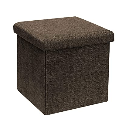 Small Cube Coffee Table.B Fsobeiialeo Storage Ottoman Cube Linen Small Coffee Table Foot Rest Stool Seat Folding Toys Chest Collapsible For Kids Brown 11 8 X11 8 X11 8