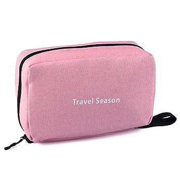 8f7904359a20 Goldwheat Waterproof Hanging Toiletry Kit Bag Travel Cosmetic Makeup  Organizer for Women Girls,Pink