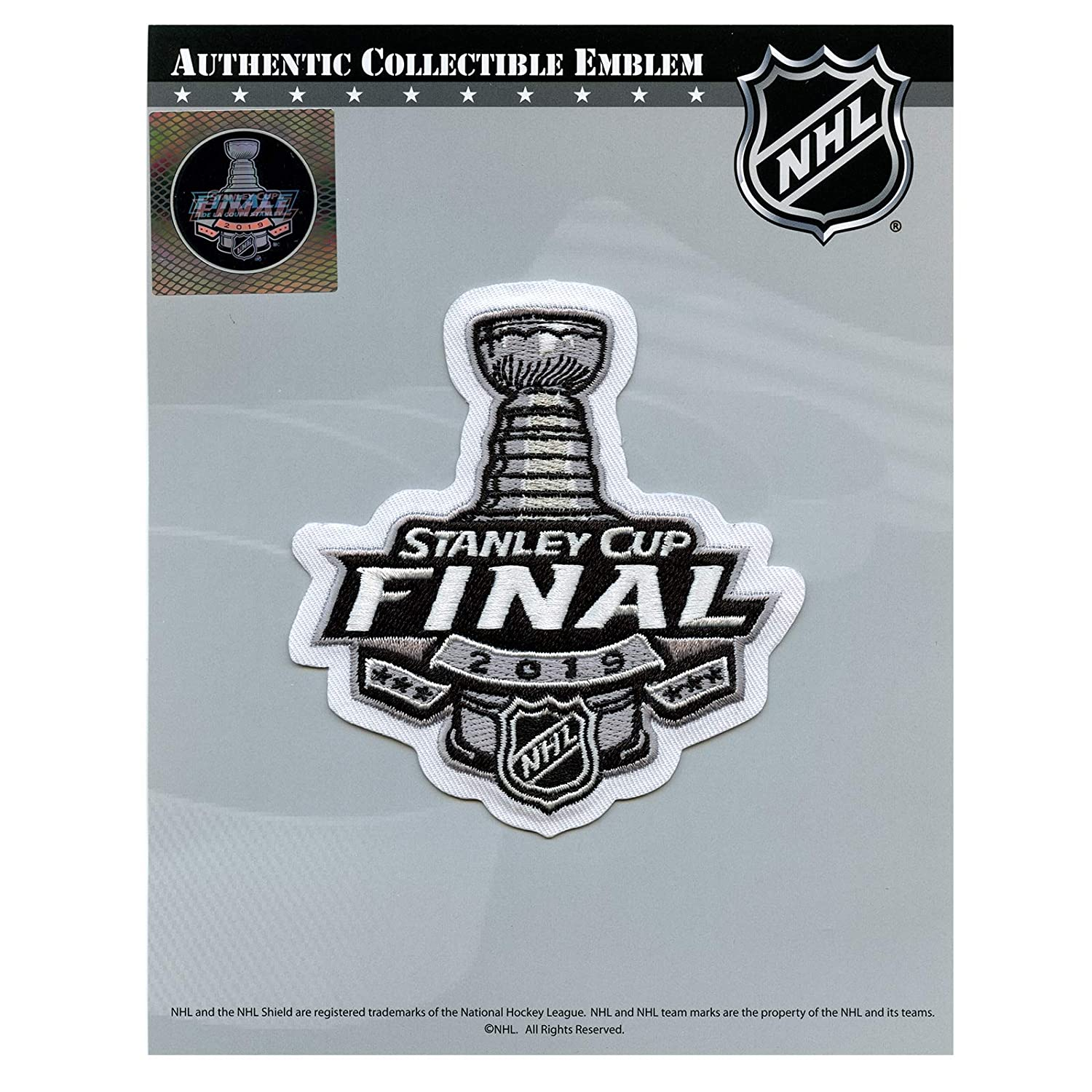 Amazon Com National Emblem 2019 Nhl Stanley Cup Final Patch Clothing