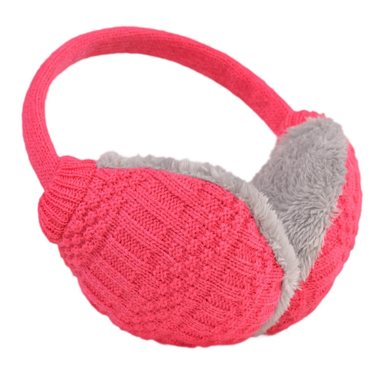 Knolee Unisex Knit EarMuffs Faux Furry Earwarmer Winter Outdoor EarMuffs Army green