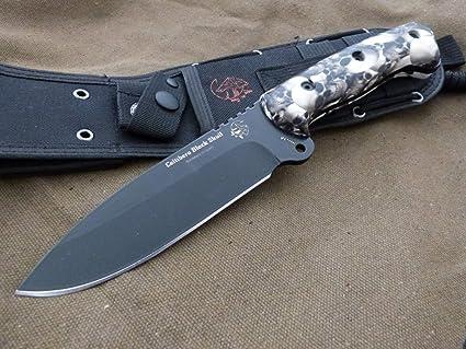 Amazon.com: JV CDA cuchillo Modelo Celtibero Negro Cráneo ...