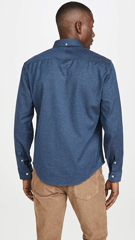 Billy Reid Mens Slim Fit Button Down Kirby Shirt