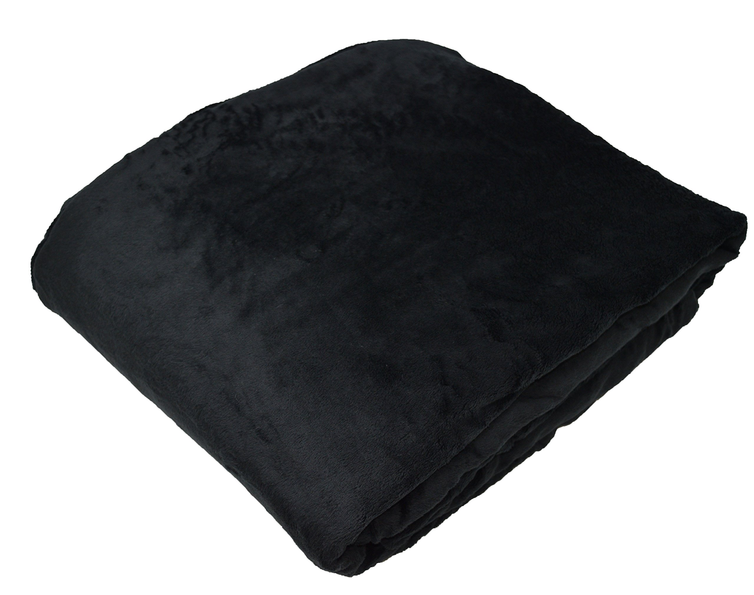 "KF Fabric Weighted Blankets Made in America (7lbs, 48""x30"") Black - Made with Softee Plush Fabric – Improve Your Sleep, Improve Your Life. Helps Calm You so You can Rest and Fall Asleep. by KF Fabric (Image #3)"