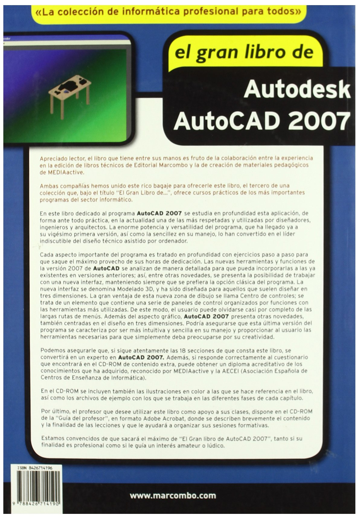 El Gran Libro de Autodesk Autocad 2007 (Incluye cd): 9788426714190: Amazon.com: Books