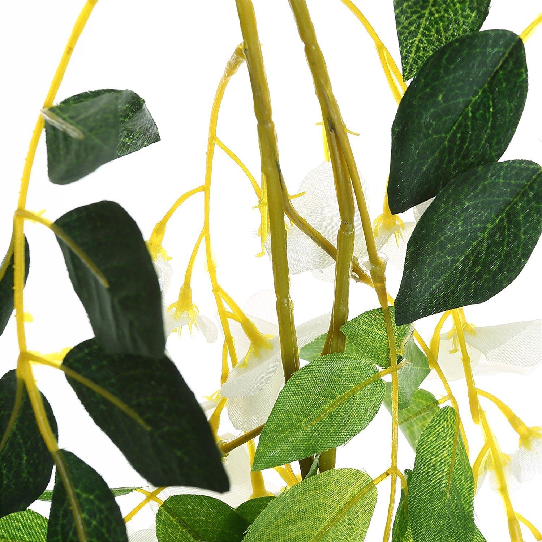 Felice Arts 2 Pcs Artificial Flowers 6.6ft Silk Wisteria Ivy Vine ...
