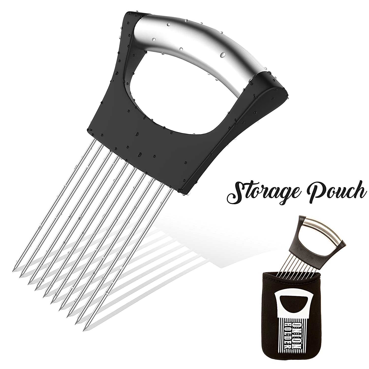 Amazon.com: Noosa Life | Onion Holder For Slicing | STORAGE POUCH ...