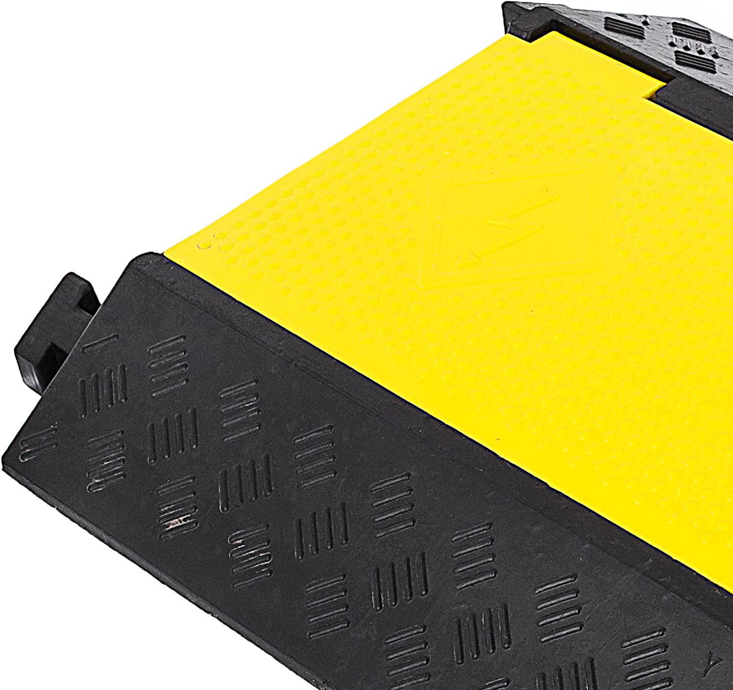 2-Channel, 1Pack//6Ft Hopopular 1PCS 6 Feet Rubber Speed Bump Driveway Modular Heavy Duty Speed Bumps 2 Channel Cable Protector Ramp