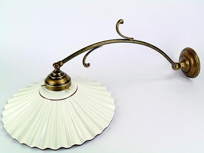 Applique in ottone brunito appliques con piatto ceramica bordato