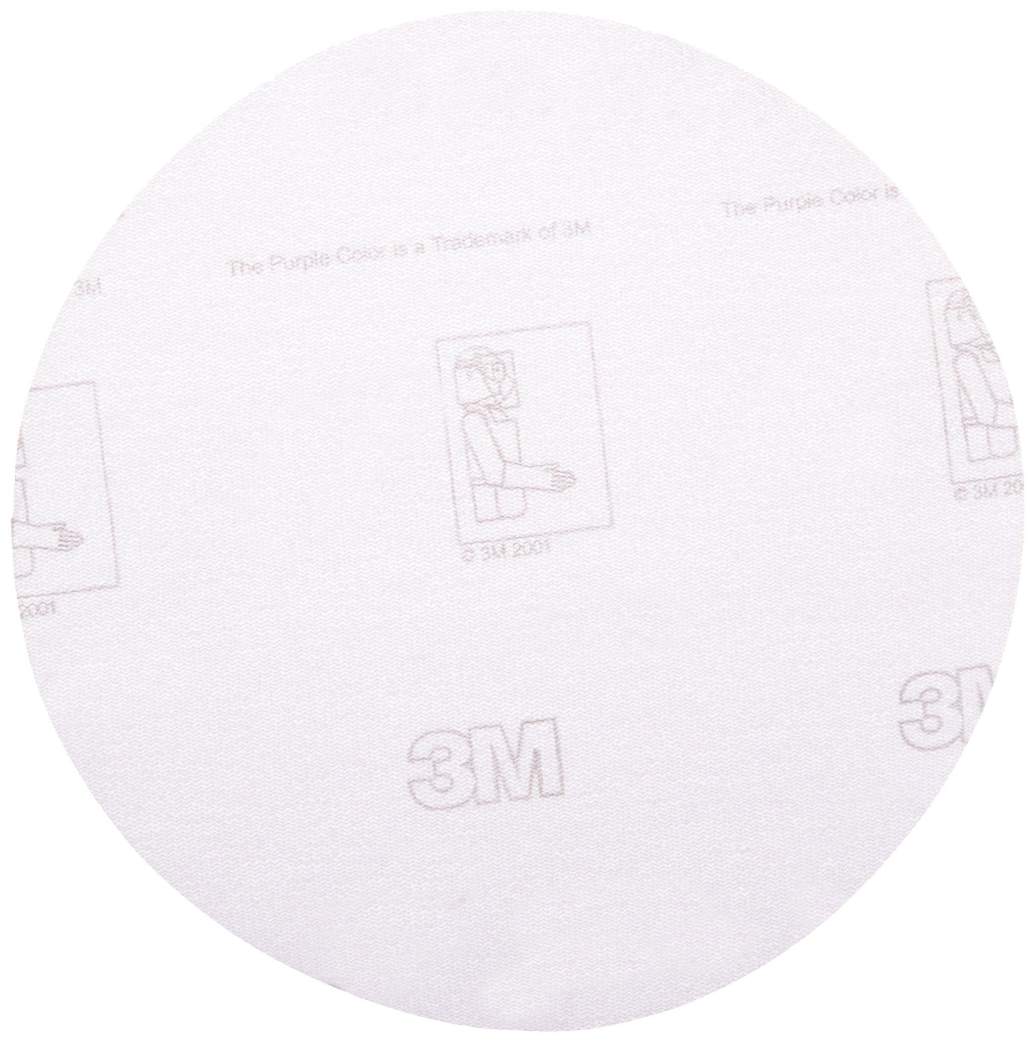 3M Hookit Film Disc 360L, Hook-and-Loop Attachment, Aluminum Oxide, 6'' Diameter, P1000 Grit (Pack of 100)
