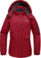 Wantdo Women's Hooded Mountain Fleece Waterproof Parka Outdoor Windproof Ski Jacket