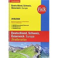 Falk Straßenatlas Deutschland, Schweiz, Österreich, Europa 2019/2020 1 : 300 000 (Falk Atlanten)