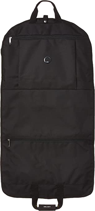 Black One Size DELSEY Paris Garment Bags Lightweight Hanging Travel Sleeve
