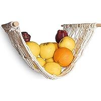"LA.Boho Fruit Hammock for Kitchen, Macrame Fruit Hammock Under Cabinet, 18"" Long and 13.9 '' Wide Fruit and Veggie…"