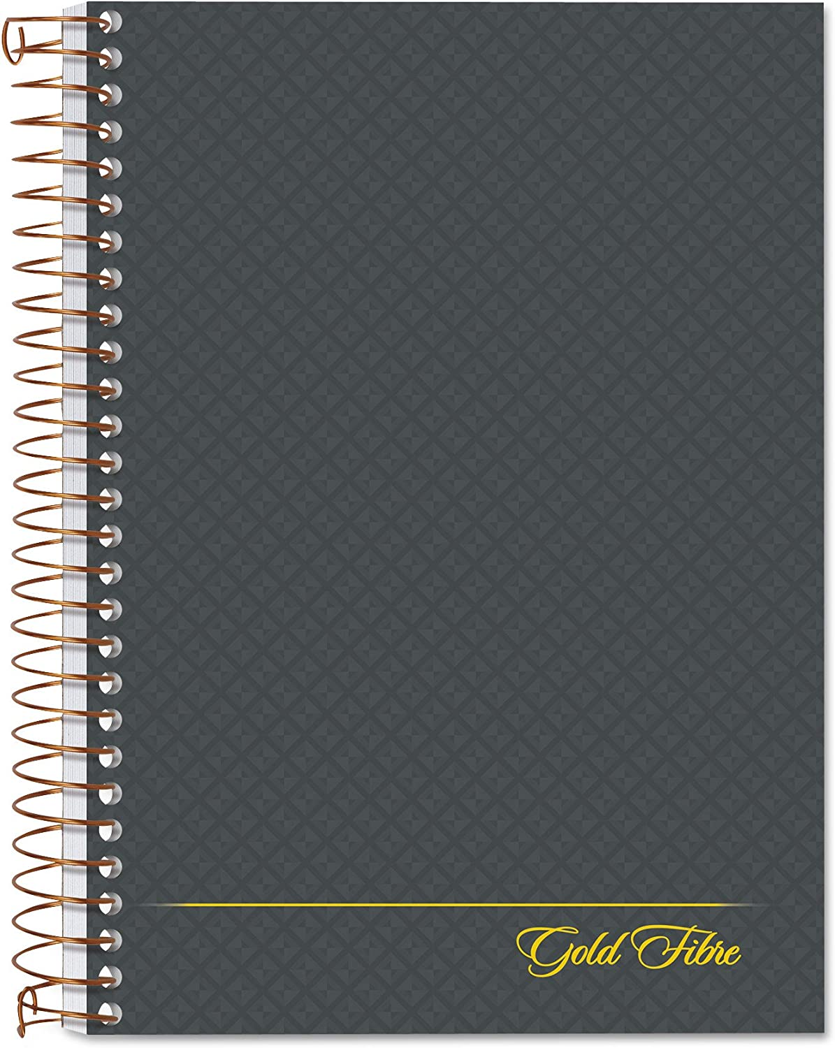 Ampad 20-803R, Gold Fibre Notebook, Medium Ruling, 7X5 Inches, Grey Cover, 100 Sheets