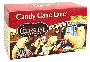Celestial Seasonings Candy Cane Decaf Green Tea Bags, 20 ct