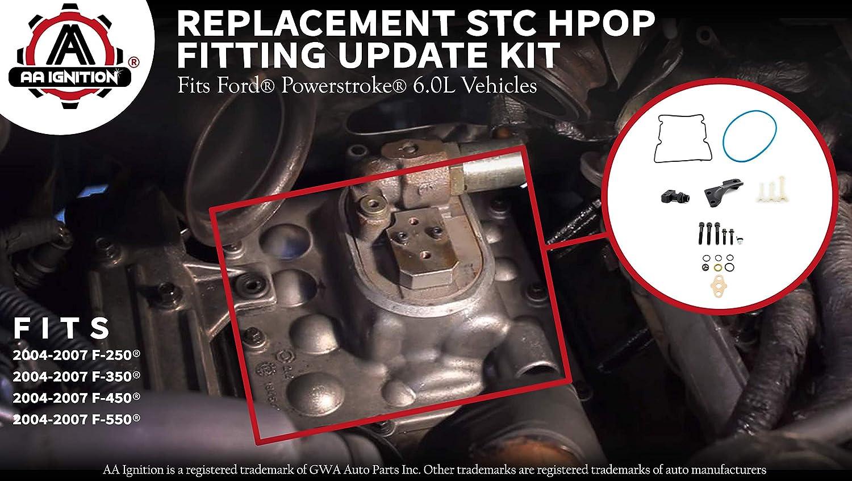 Amazon 60l Powerstroke Stc Hpop Fitting Update Kit Fits Ford. Amazon 60l Powerstroke Stc Hpop Fitting Update Kit Fits Ford F250 F350 F450 F550 Vehicles Replaces 4c3z9b246f High Pressure Oil Pump. Ford. 2006 Ford F 250 Engine Diagram Hpop Stc At Scoala.co