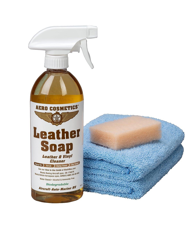 Amazon.com: Aero Cosmetics Kit de limpieza de cuero, calidad ...