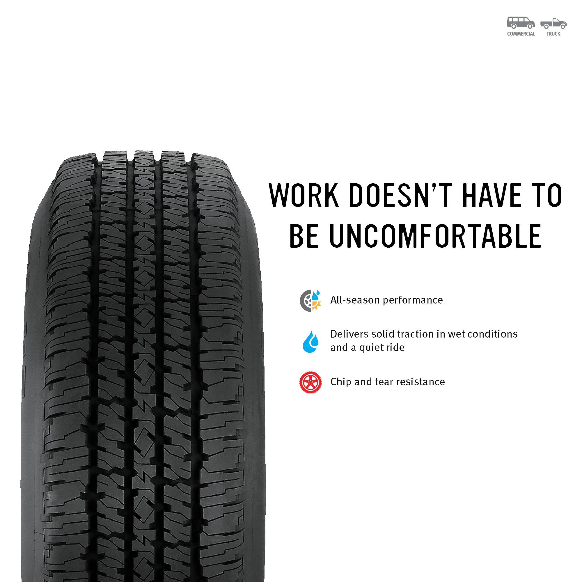 Firestone Transforce HT Radial Tire - 8.75R16.5 115R