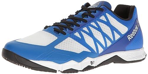 Reebok Men's Crossfit Speed TR Cross-Trainer Shoe, White/Black/Awesome Blue