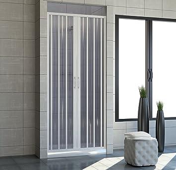 Cabina de ducha 150 con apertura plegable central. De PVC. Altura ...