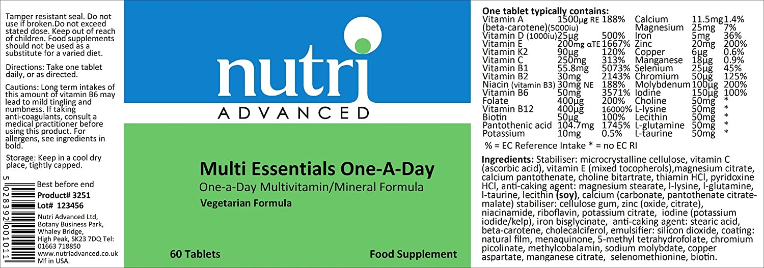 MULTIESSENTIALS ONE-A-DAY: Amazon.es: Salud y cuidado personal