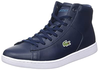 08870dff Lacoste Sport Women's Carnaby Evo Mid 317 1 High-top Trainers, Blue (NVY