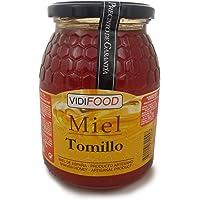 Miel de Tomillo - 1kg - Producida en España - Alta Calidad, tradicional & 100% pura - Aroma Floral y Sabor Rico y Dulce - Amplia variedad de Deliciosos Sabores