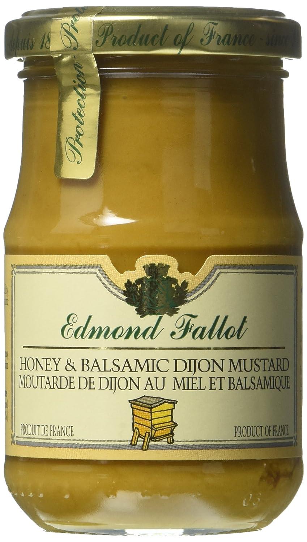 Honey Balsamic Mustard Fallot French Miel et Vinaigre Balsamique Mustard 7oz jar, One