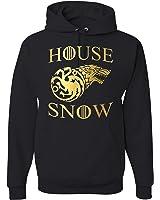 HOUSE SNOW GAME OF THRONES JON SNOW UNISEX HOODIE SWEATSHIRT