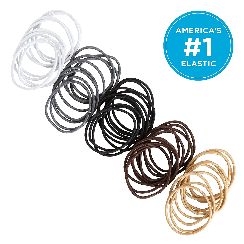 1500-ct. Total Lot of 2 Snag Free Mini Hair Bands Elastics in Bright /& Pastel