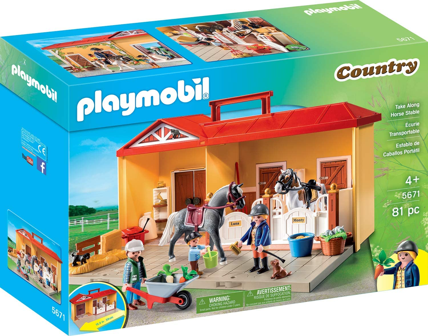 Playmobil 5667 Stables with Horse Transporter