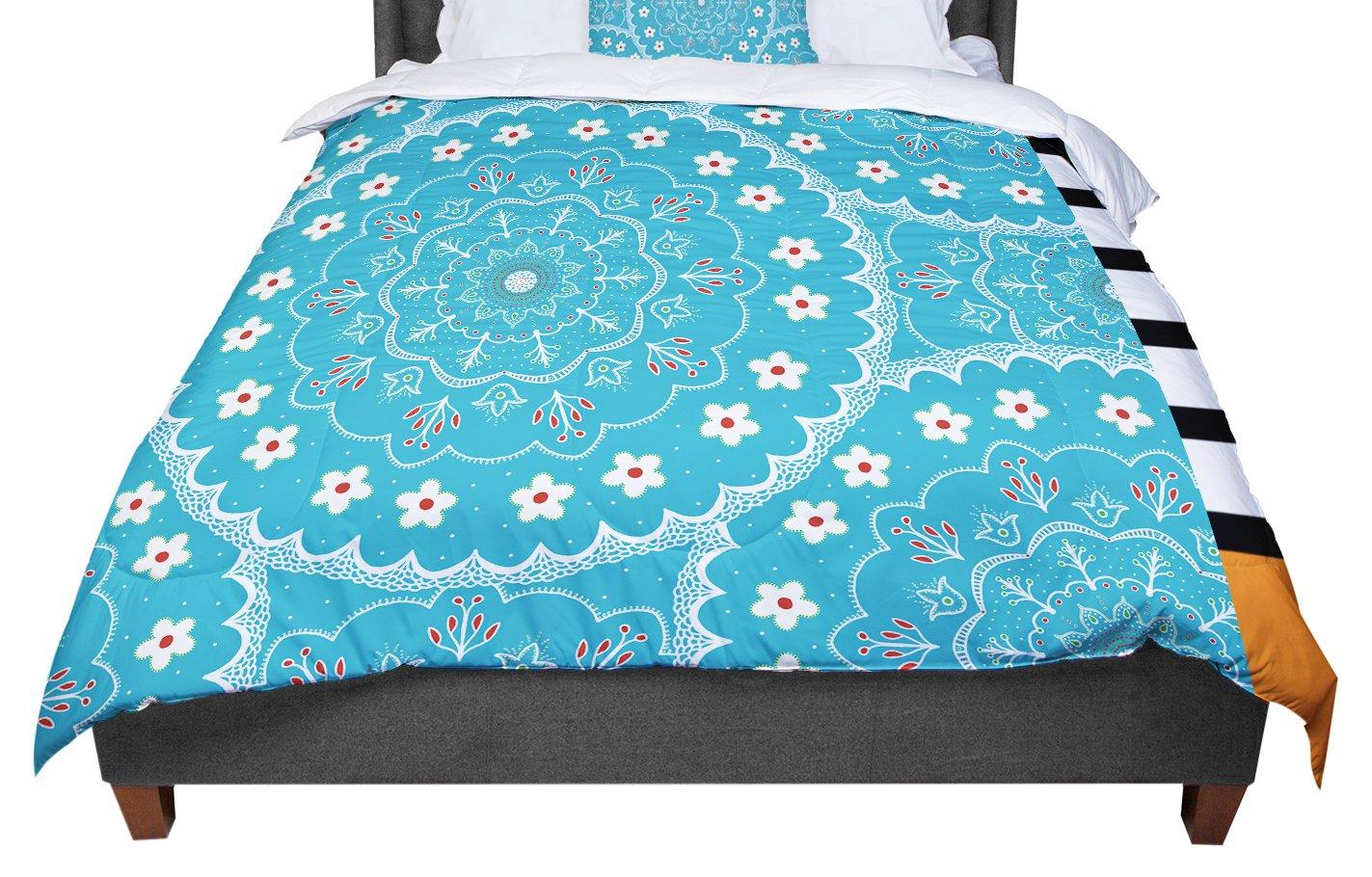 104 X 88 Cal King Comforter KESS InHouse Iris Lehnhardt Mandala II Blue Abstract King