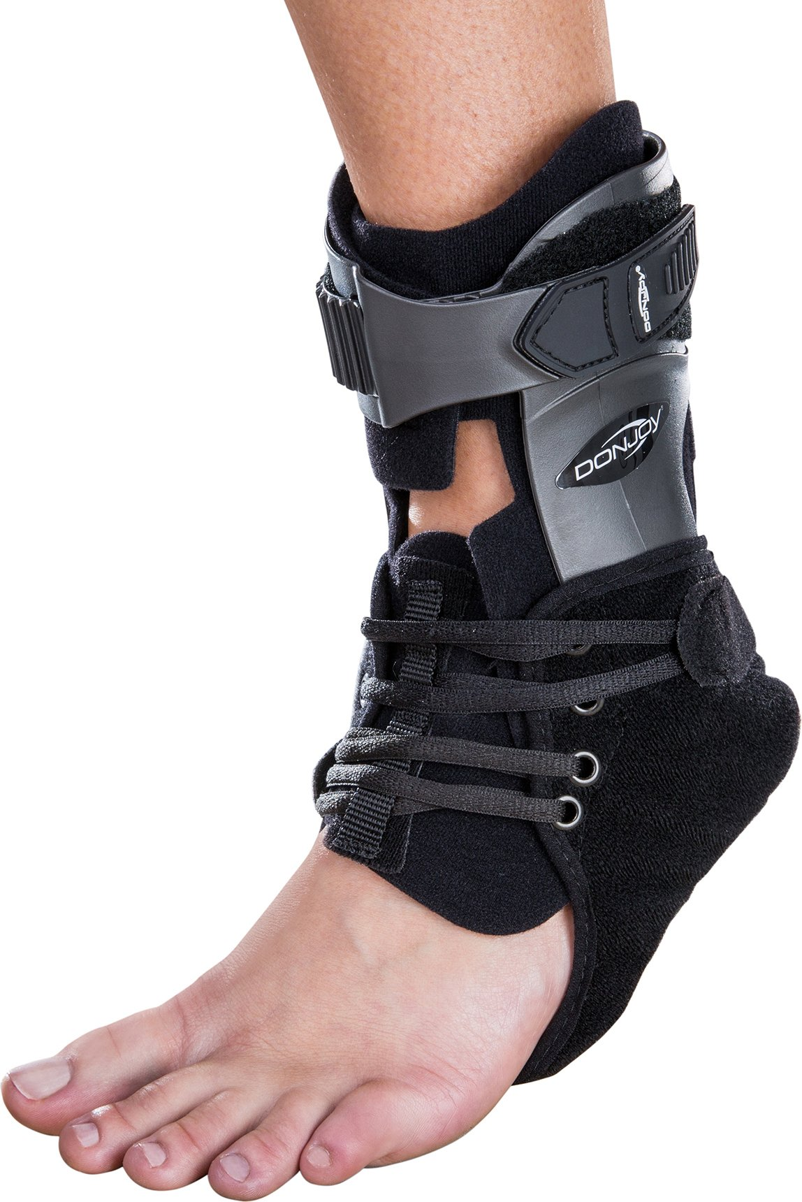 DonJoy Velocity ES (Extra Support) Ankle Brace: Standard Calf, Left Foot, Medium