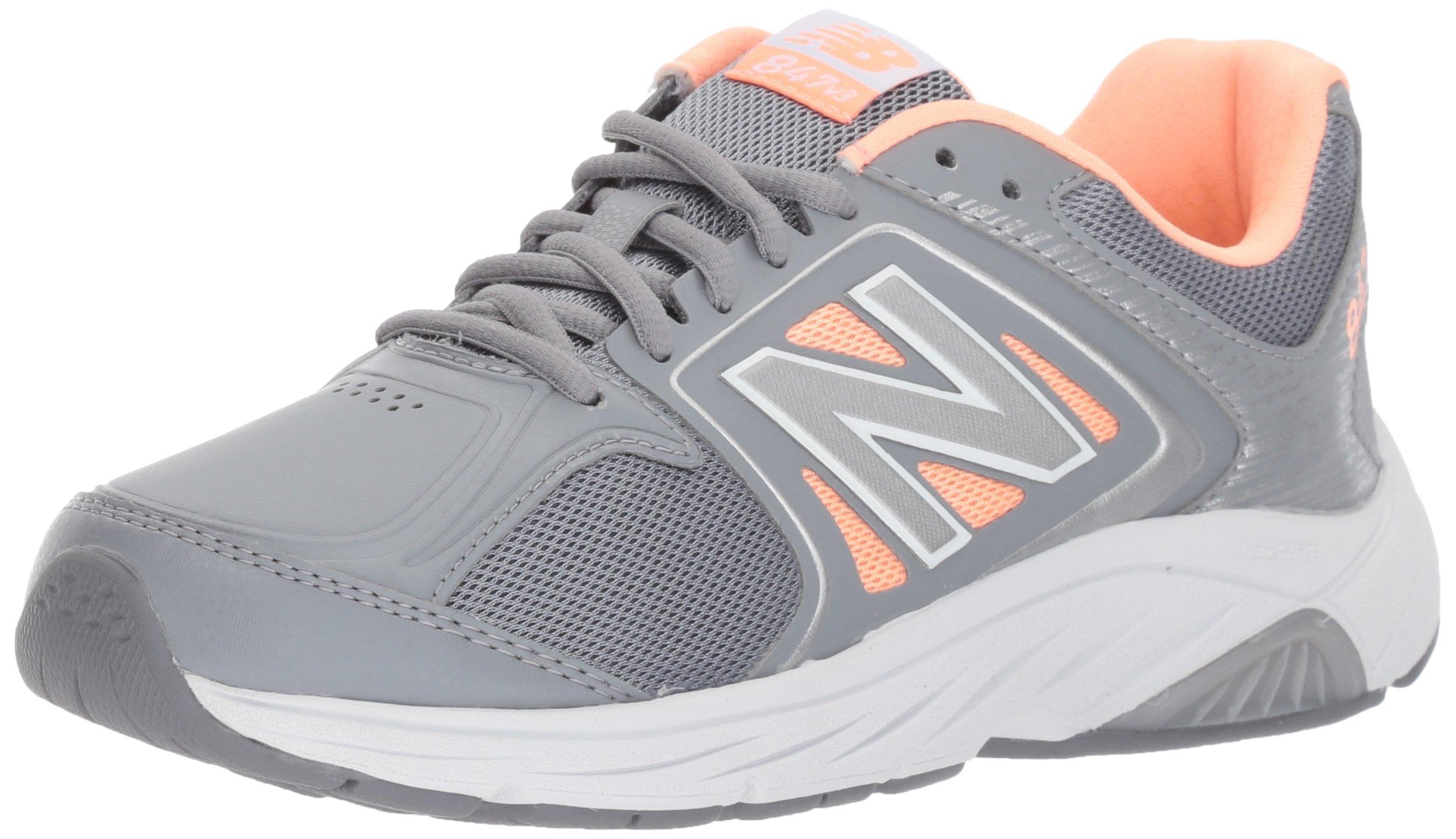 New Balance Women's 847V3 Walking Shoe, Grey/Pink, 10 2E US