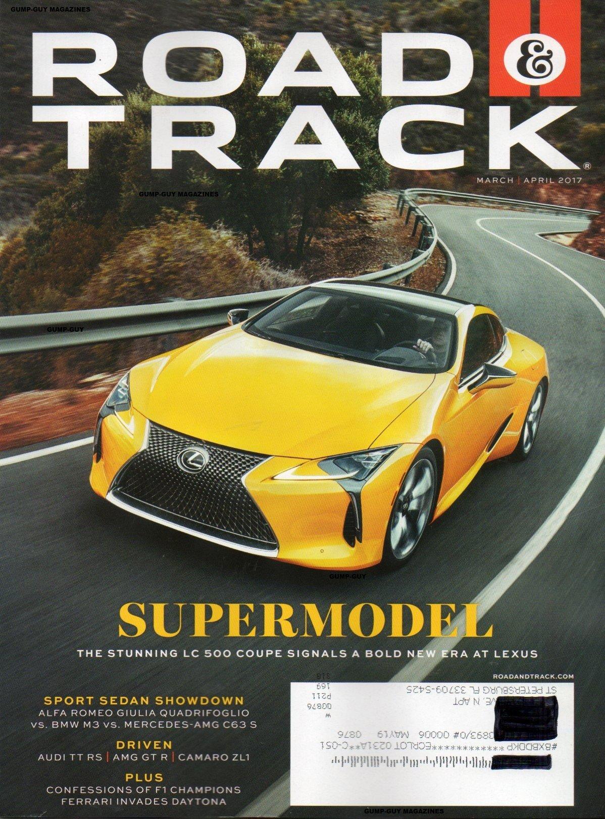 Road & Track 2017 Magazine SPORT SEDAN SHOWDOWN: ALFA ROMEO GIULIA QUADRIFOGLIO vs. BMW M3 vs>MERCEDES-AMG C63 S Single Issue Magazine – 2017