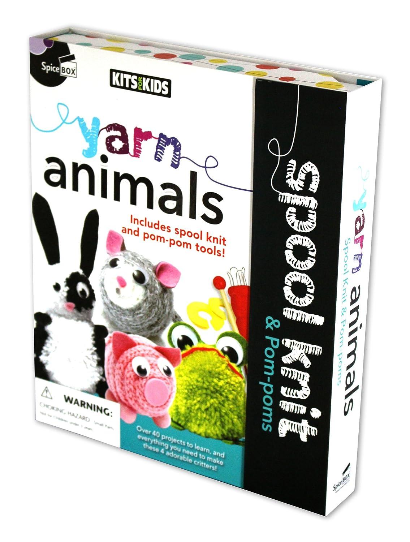 Yarn Animals Spool Knit /& Pom-poms