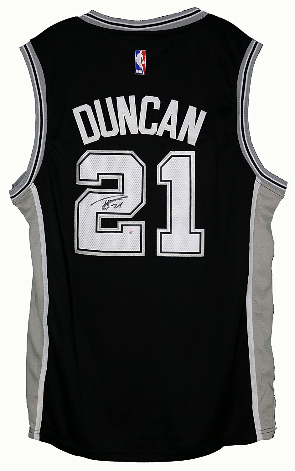 6558ea00f3d Tim Duncan San Antonio Spurs Signed Autographed Black #21 Jersey PAAS COA  at Amazon's Sports Collectibles Store
