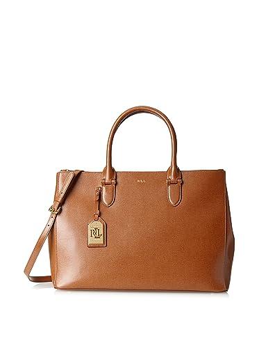 Ralph Lauren Newbury Double Zip Satchel Handbag In Tan - RRP £280 to £310 6c0dc99e42e30