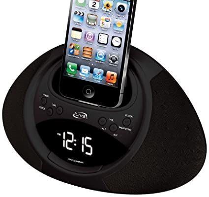 amazon com ilive icp122b clock radio with dock for iphone ipod with rh amazon com iLive Boombox Ilive All in One