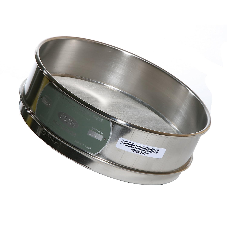 Advantech Stainless Steel Test Sieves 8 Diameter #120 Mesh Full Height