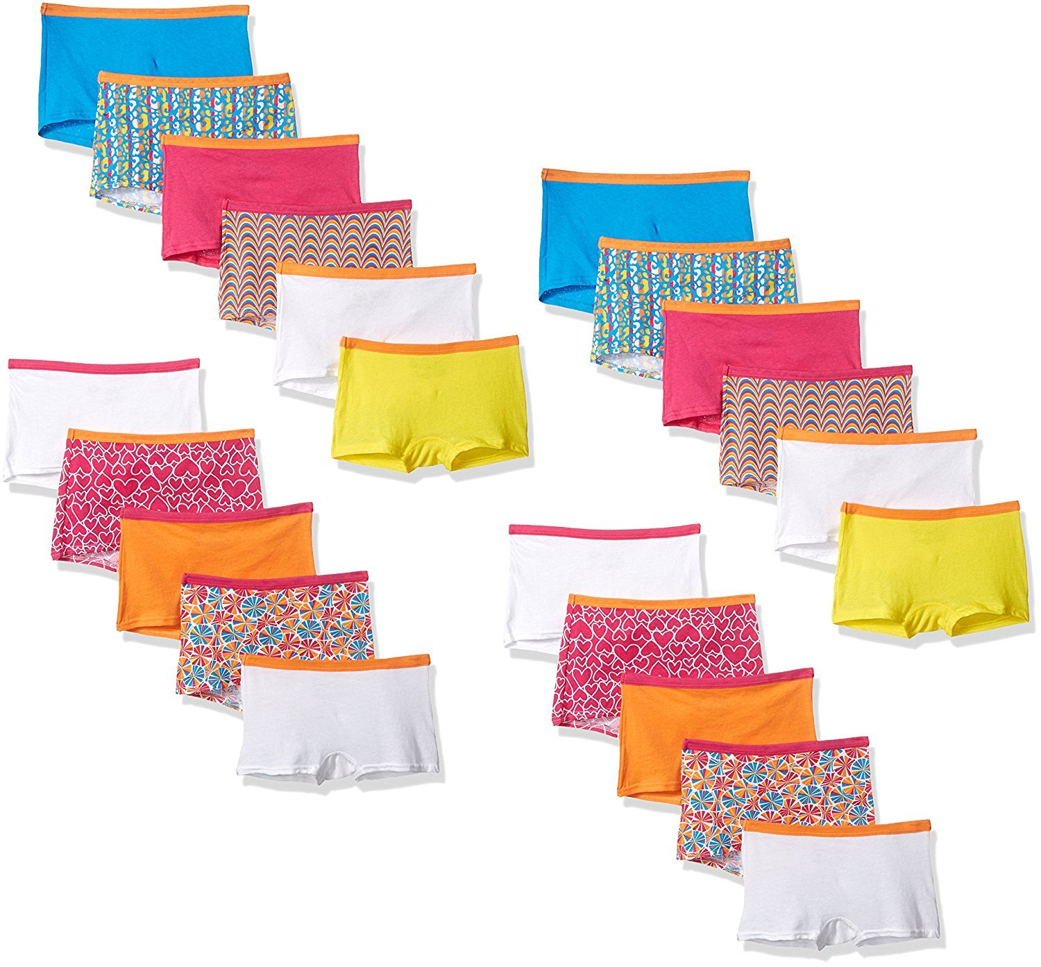 byFruit of the Loom Fruit Of The Loom Little Girls' Assorted Boyshort (Assorted 22-Pack, 8)