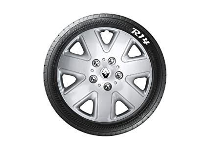 "Wheel Trims - Tapacubos con Emblema para Renault Clio, 4 Unidades, 14"""