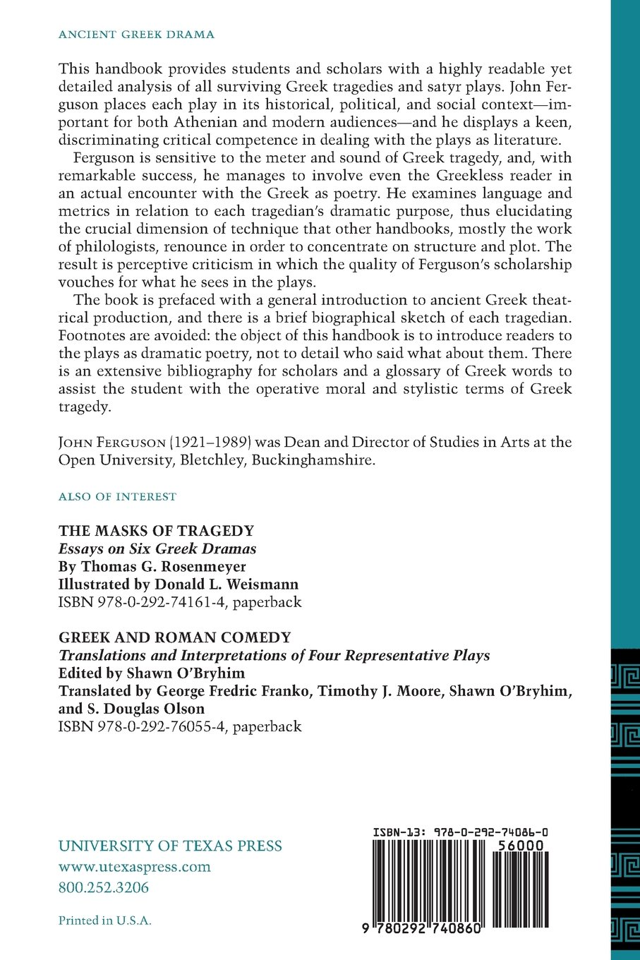 A New Companion to Greek Tragedy: A Handbook for Those Reading the Plays in Translation